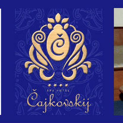 Obdaruj svoji drahou polovičku romatickým výletem do lázeňského města Karlovy Vary a využij 53% slevu služeb hotelu Čajkovskij - pobyt na 2 noci pro 2 osoby
