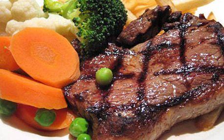 110 Kč za steak zmladého býčka sbylinkovým máslem a přílohou dle libosti. V původní hodnotě 210Kč