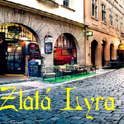 Jen 188 Kč za 300g RUMPSTEAK z hovězího roštěnce s přílohou, předkrmem i dezertem v restauraci Zlatá Lyra v centru Prahy. Přijďte na mistrovský koncert třichodového menu s dokonalým kulinářským prožitkem a ušetřete 61% Vašich peněz!