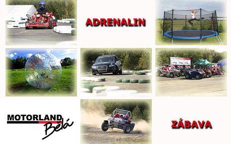ADRENALIN v motoristickém ráji za pouhých 250,- Kč! Čtyřkolky, motokáry, buggy, Audi A3 nebo zorbing. Připoutejte se a JEDEME!