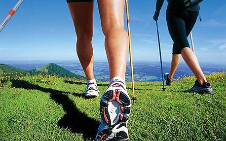 900 Kč za Kurz Nordic walking + 10 lekcí v původní hodnotě 1300 Kč