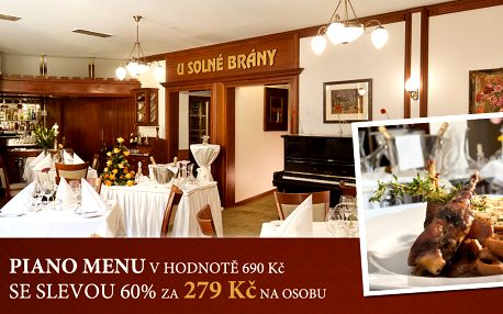 279 Kč za degustační menu v nové restauraci Hotelu U Solné brány