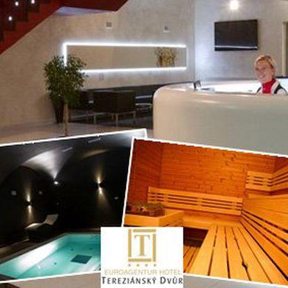 2990 Kč za třídenní pobyt pro DVA v luxusním hotelu Tereziánský dvůr****. Tříchodová večeře, sauna, whirlpool, bazén. Pohodová dovolená a sleva 50%.