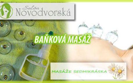 Uvolněte Vaši tělesnou schránku od stresu a napětí při jedinečné baňkové masáži v Salónu Novodvorská nebo Studiu Sedmikráska. Dopřejte svému tělu 45min relax na který budete dlouho vzpomínat...