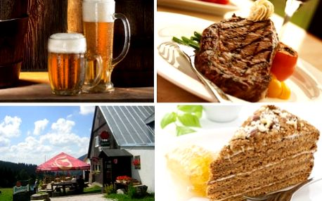 Krkonošské menu v Boudě Míla pro 2 za 325Kč-zelňačka, vepř.steak se zeleninkou, domácí medovník, 0,5l piva a grogy! Máte zakoupený poukaz na pobyt do Boudy Míla nebo do Krkonoš? Zpestřete ho dalším a zajistěte si mimo ubytování i skvělé jídlo pro 2! Jen nyní na SlevmeTo sleva 50% na slavnostní obídek v Boudě Míla zařízené v klasickém krkonošském stylu!