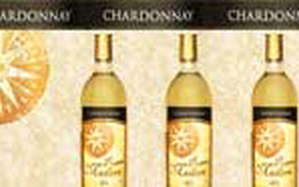 Jen 79 Kč místo 179 Kč za láhev 0,75l vynikajícího španělského odrůdového bílého vína CHARDONNAY ! !! Ochutnejte prvotřídní víno z prosluněných španělských vinic s 55% slevou! OPAKOVÁNÍ ÚSPĚŠNÉ NABÍDKY!