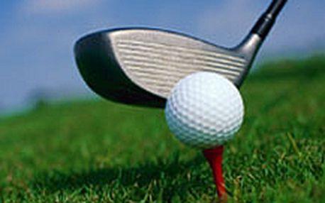 5 lekcí golfu jen za 1000