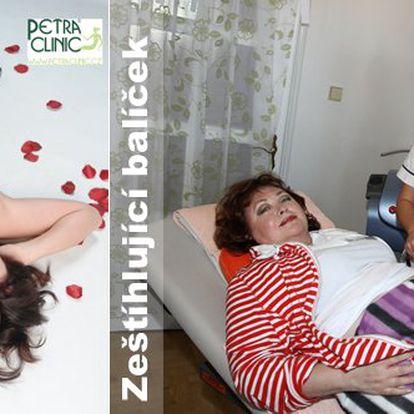 Krásné tělo bez zbytečných faldíků během 60 minut jen za 1760Kč. Zeštíhlující balíček (konzultace, lymf.masáž, liposukce, anticelulitidní masáž a kolagenárium) ve vyhlášeném salonu Petra Clinic v centru Prahy se slevou 60%.