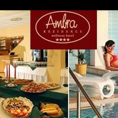 Dopřej si úžasný relax v centru lázeňství v Luhačovicích, s bezva 35% slevou! Jen za 3266,- Kč si užiješ 4 báječné dny v luxusním hotelu Rezidence Ambra s bohatým wellness programem!