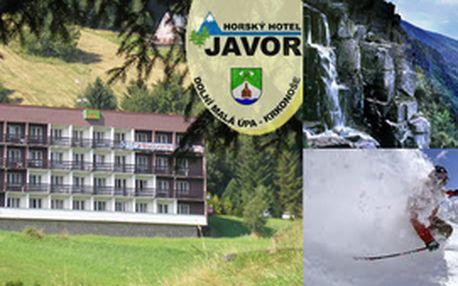 Jen za 745 Kč za osobu DVA dny s PLNOU PENZÍ v krásném hotelu Javor*** uprostřed KRKONOŠ, vouchery lze sčítat