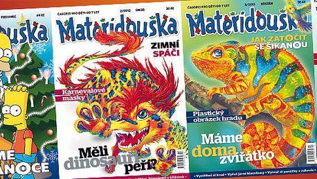 238 Kč za roční předplatné časopisu Mateřídouška. Oblíbený dětský časopis se slevou 40 % nebo sknihou o počítačích či přírodě.