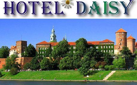 1 335 Kč za 3 dny pro 2 osoby v Hotelu Daisy v polském Krakově! Historické domy a paláce, náměstí s kostely, obchody, stánky s místními specialitami, restaurace a příjemné kavárny. Krakov, nejnavštěvovanější město Polska, zde si chvílemi můžete připadat jako ve Vídni či Florencii. Do vyhlášené metropole na řece Visle si určitě musíte zajet!