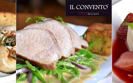 999 Kč za romantické menu vIL CONVENTO vceně 2590 Kč pro dva! Tartar ztuňáka, telecí kýta, šneci po burgundsku a další speciality od věhlasného kuchaře.