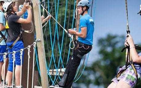 ŠEST adrenalinových atrakcí. Powerriser, bungee trampolína, big swing a mnoho dalších. Akční zábava v Adrenalin parku Hluboká se slevou 50 %!