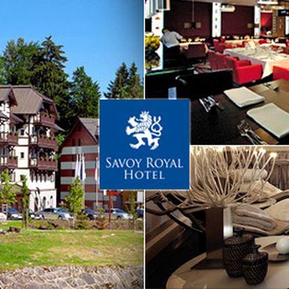 Tři dny ve Špindlerově Mlýně pro dva. Přepychové ubytování v Savoy Royal Hotel****, luxusní relaxace, degustační večeře a nádherná příroda!