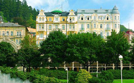 3denní léčebný pobyt v luxusním hotelu přímo nad hlavní kolonádou Mariánských Lázní