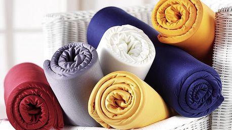 Kvalitní český výrobek – napínací prostěradlo Jersey Novia ze 100% bavlny na jednolůžko za 149 Kč. Snadná údržba, prostěradlo se nemusí žehlit, výběr z mnoha barev.