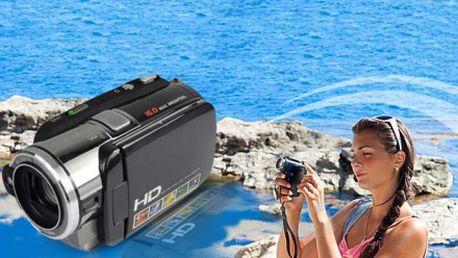 LCD VIDEOKAMERA 3.2HD za exkluzivní cenu 1599 Kč! Uchovejte si své vzpomínky v podobě kvalitního videa s pomocí HD kamery! Sleva 50% a brašna v ceně!