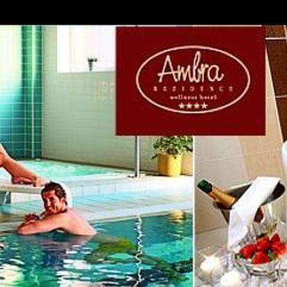1 966 Kč za 3 denní rozmazlující wellness pobyt v lázeňském městě Luhačovice, s ubyt. v luxusním hotelu Rezidence Ambra pro 1 os. včetně snídaně, s 55% slevou.