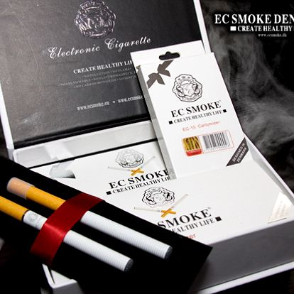 Vysoce kvalitní elektronická cigareta EC Smoke 10 Exclusive vám zajistí dlouhodobě zdravé kouření! Dva kusy cigarety, která vydrží až 100 000 nabití, s kompletním příslušenstvím a deseti cartomizery za 1245 Kč!