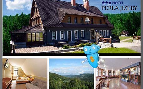 Jizerské hory, 3 dny, 3 osoby, polopenze, hotel Perla Jizery*** + 2 hod. v ruské nebo finské sauně! Podzimní relax i romantika v hotelu Perla Jizery*** v Jizerských horách. Milujete skvělé jídlo, pohodlné ubytování, krásnou přírodu a relax v sauně? Dovolená plná zážitků a sleva 40%!