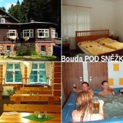 Jen 1980 Kč za 3denní pobyt pro 2 osoby s POLOPENZÍ v Boudě Pod Sněžkou v Krkonoších + sleva na WELLNESS! Zrelaxujte se na úplné samotě v Krkonošském národním parku se slevou 50 %!