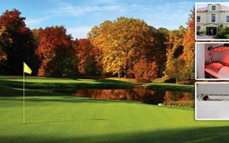 Lázeňský golfový pobyt v Lázních Kynžvart se slevou 34%. Golf & Wellness Hotel Hubertus přináší 3 dny (2 noci), 2x golf (výběr z 5 top hřišť), tříchodové večeře, bohaté vital snídaně, lunch paket a slevy na procedury.