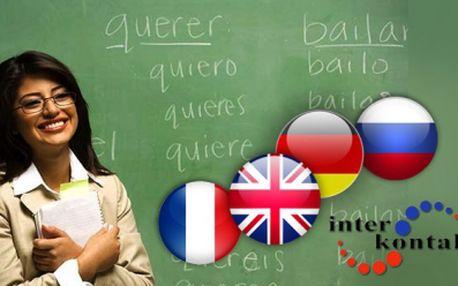 Semestrální kurz cizích jazyků nebo víkendový intensiv za pouhých 1 800 Kč! Vyberte si angličtinu, ruštinu, němčinu, španělštinu, francouzštinu nebo italštinu!
