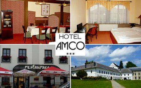 Již od 1 400 Kč za VÍKENDOVÝ POBYT na 3 nebo 4 dny SE SNÍDANÍ pro DVĚ OSOBY v podhůří Jeseníků v hotelu Amco***. Množství zajímavých kulturních památek v okolí. Cyklostezky a pěší turistika. Sleva 56%.