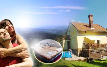 Užijte si PRODLOUŽENÝ VÍKEND NA CHATĚ LUCKY za senzačních 800 Kč! V ceně zahrnuto ubytování na 4 dny až pro 8 osob v komfortně zařízené chatě s velkou zahradou, bazénem a dětskou klouzačkou!