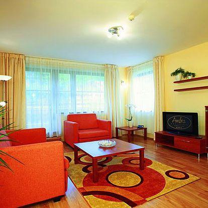 3 dny ve wellness rezidenci Ambra v lázních Luhačovice s bohatou polopenzí a wellness.