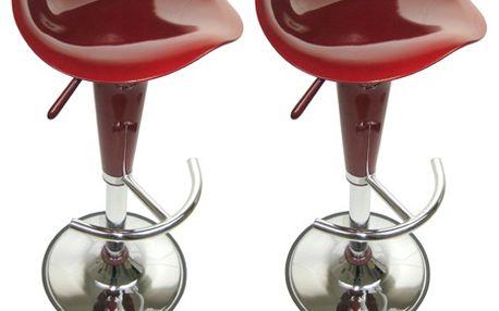 Barové stoličky Tulip bordo 2 ks