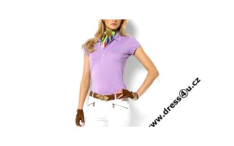 Dámské polo tričko Ralph Lauren fialové