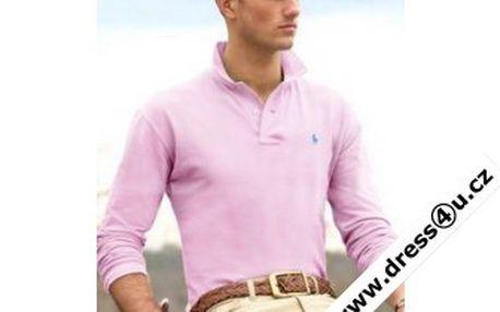 Pánské polo triko Ralph Lauren sv.růžové