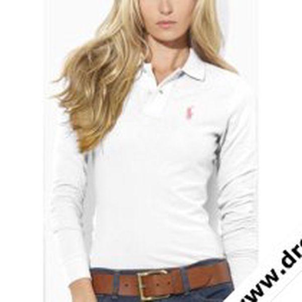 Dámské polo tričko Ralph Lauren bílé