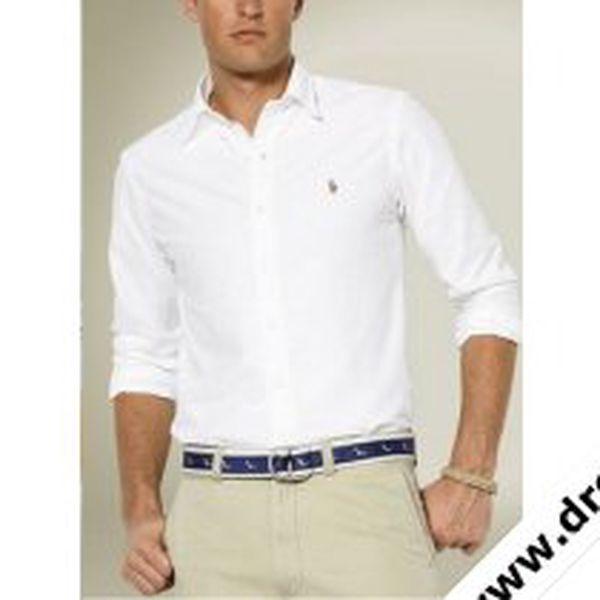 Ralph Lauren pánská košile Oxford bílá
