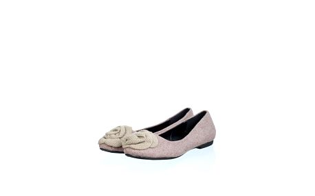 Dámské hnědorůžové plstěné baleríny Ada Gatti