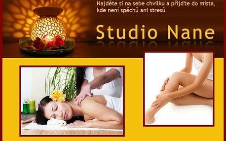 Speciální masáž VIP nebo GOLD v celkové délce 1 hodiny! Masáž nohou a chodidel NEBO masáž zad a nohou ve studiu Nane v centru Prahy se slevou 67%!