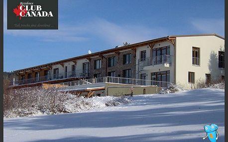 Lipno, Club Canada, sleva 40% na pobyt na 3 dny/2 noci pro 3 osoby ve třílůžkovém apartmánu s výhledem na Lipenské jezero. Plno sportovního vyžití v okolí, wellness aktivity přímo v hotelu, nové, moderně zařízené apartmány! Přijeďte si zasportovat nebo odpočinout!