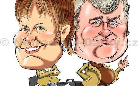 Karikatura H02 Barevná karikatura na formát A3 pro dvě osoby