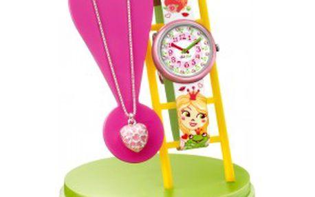 Dětské hodinky Swatch Flik Flak Cuty Hugs ZFTB013 v dárkovém setu s náhrdelníkem