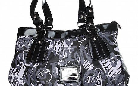 Dámská černá kabelka Enrico Coveri s potiskem