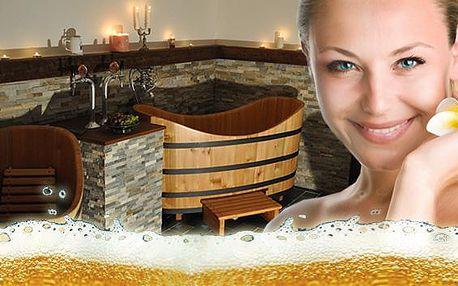 Luxusný pivný alebo vínny kúpeľ pre 2 osoby