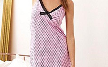 Romantická noční košilka pro ženy s nastavitelnými krajkovými ramínky