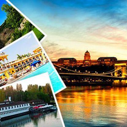 Botel na Dunaji v Budapešti pro dva se snídaní, slunná terasa, hlídané parkoviště, děti do 6 let zdarma