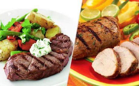 """2 x 300 g pravého rumpsteaku """"Heart of Rump"""" z uruguayského býčka s přílohou ve vyhlášené restauraci českých celebrit Mount Steak Restaurant!"""