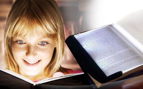 Světelný LED panel na čtení jen za 119 Kč! Skvělý dárek pro každého čtenáře! Stačí rozsvítit LED panel a položit ho na právě čtenou stránku knížky!
