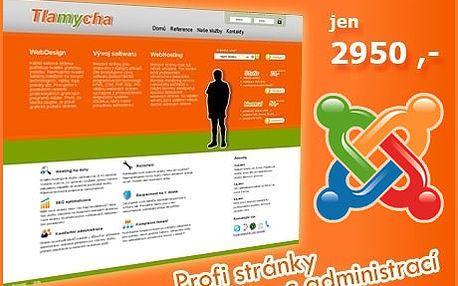 Webové stránky s administrací. Moderní a profesionální web sneomezeným počtem podstránek, fotogalerií, kontaktním formulářem včetně propojení na FB a multimedia.