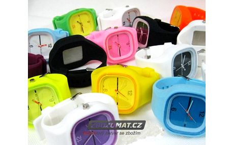 Silikonové hodinky Jelly Square - i čas může mít styl!