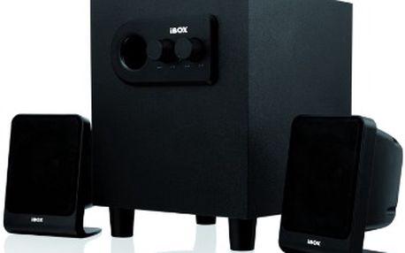 Výkonné reproduktory I-BOX DUBLIN 2.1 v elegantním černém provedení
